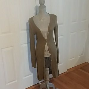 Free People long sage green sweater